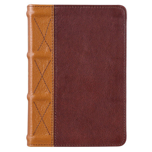 Saddle Tan and Butterscotch Large Print Compact KJV Bible
