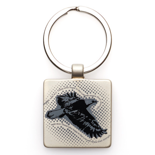 Wings of an Eagle Metal Keyring