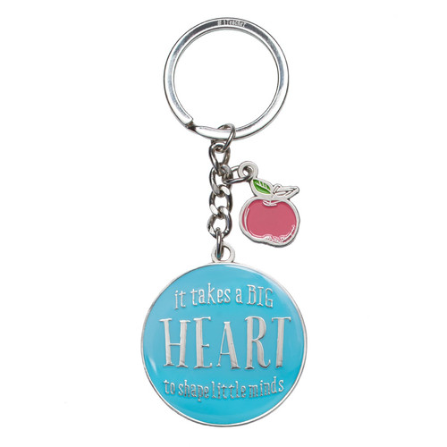 Blessings for a #1 Teacher in Blue - 1 Corinthians 16:14 Keyring in Tin