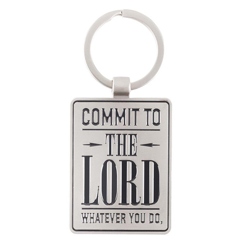 Commit to the Lord - Proverbs 16:3 Keyring in Tin