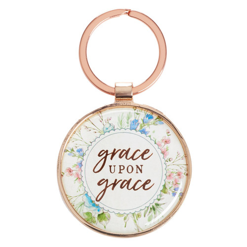 Grace Upon Grace - John 1:16 Keyring in Tin