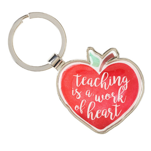 Teaching is a Work of the Heart Keyring