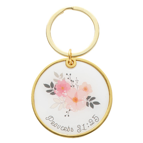 Strength & Dignity Key Ring – Proverbs 31:25