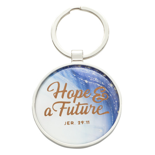 Hope & a Future Keyring in a Tin - Jeremiah 29:11