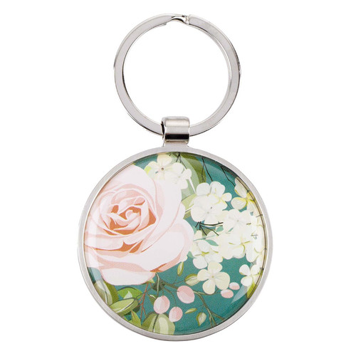 That My Joy May Be In You Floral Keyring in Tin - John 15:11