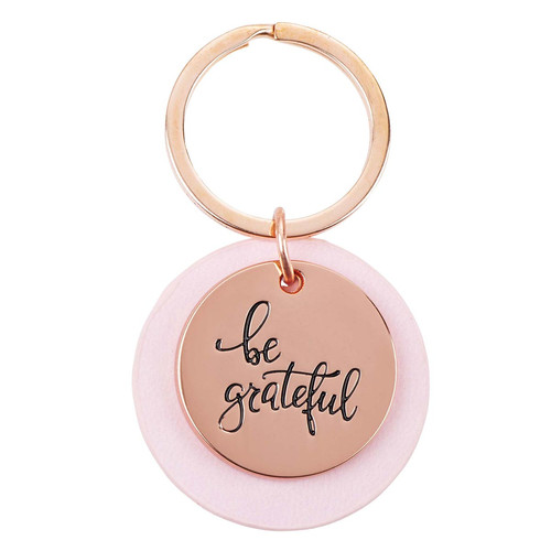 Be Grateful Rose-gold Kering with Pink Disc