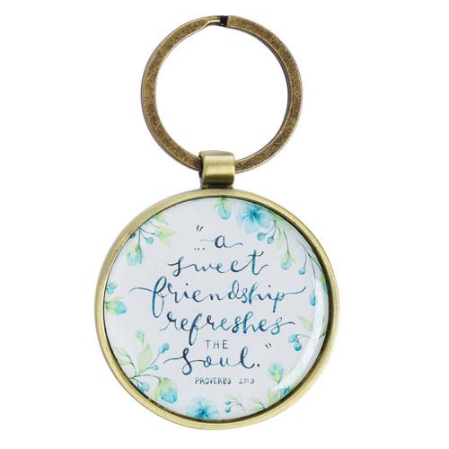 A Sweet Friendship Metal Key Ring - Proverbs 27:9