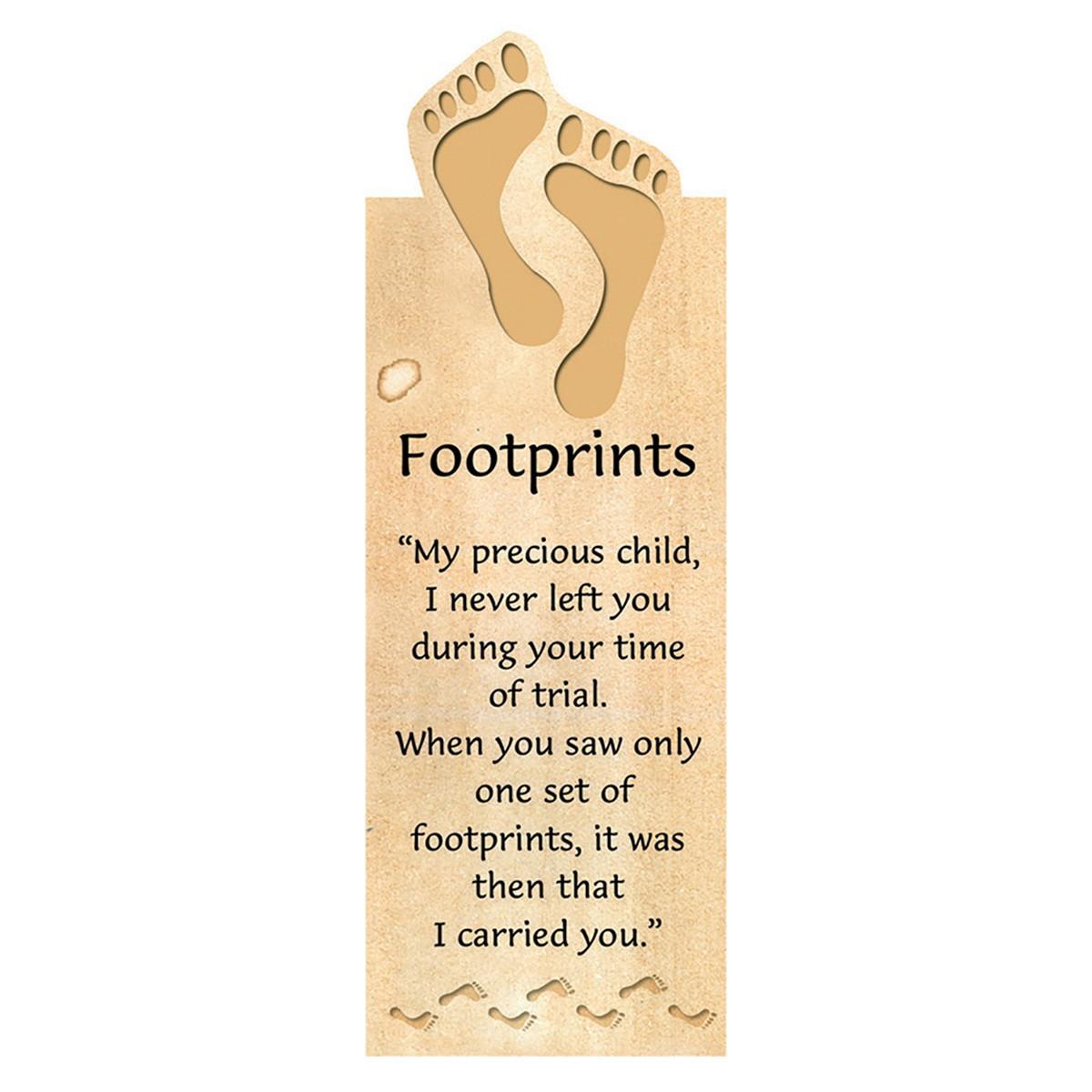 Footprints Magnetic Bookmark