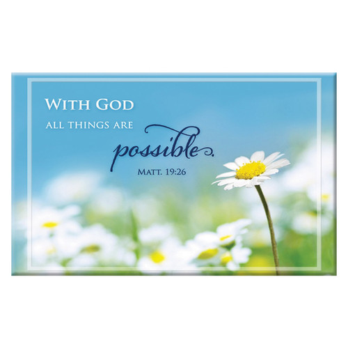 With God All Things Are Possible Magnet - Matthew 19:26