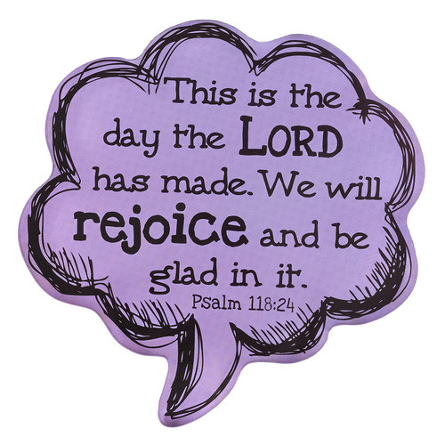 This is the Day - Psalms 118:24 Speech Bubble Magnet