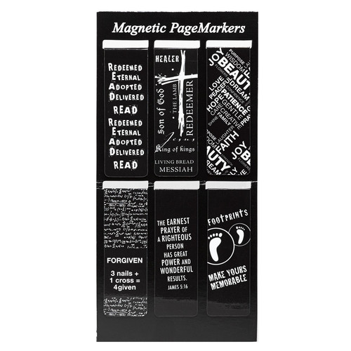Black and White Magnetic Bookmarks