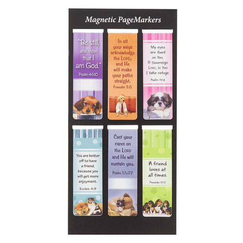 Be Still Puppy Magnetic Bookmark Set - Psalm 46:10