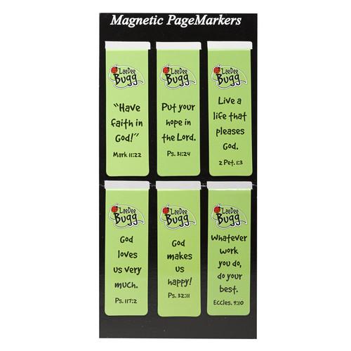 LaeDee Bug - Green Magnetic Bookmark