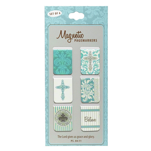Believe Set of 6 Small Magnetic Bookmarks
