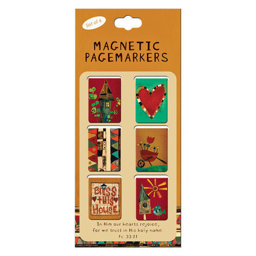 Magnetic Pagemarkers: Bless This House - Set of 6