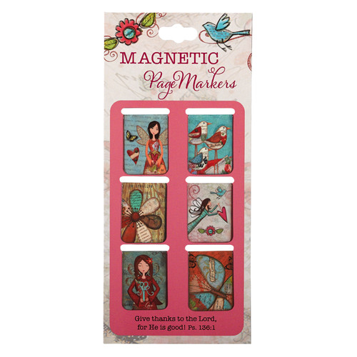 Gratitude Range Set of 6 Small Magnetic Bookmarks
