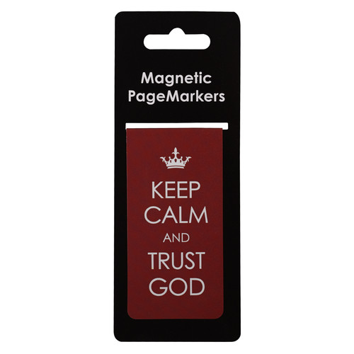 Keep Calm & Trust God Large Magnetic Bookmark