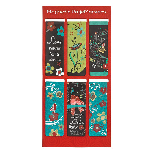 Love Never Fails Magnetic Bookmarks Set