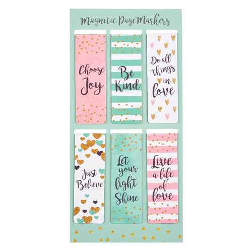 Sparkle Magnetic Bookmark Set