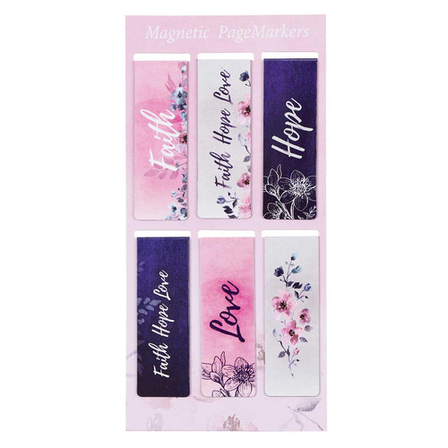 Faith Hope Love Magnetic Bookmark Set - 1 Corinthians 13:13