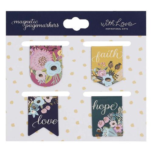 Faith Hope Love Magnetic Bookmark Set