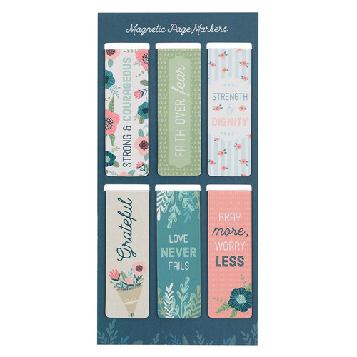 Floral Garden Magnetic Bookmark Set