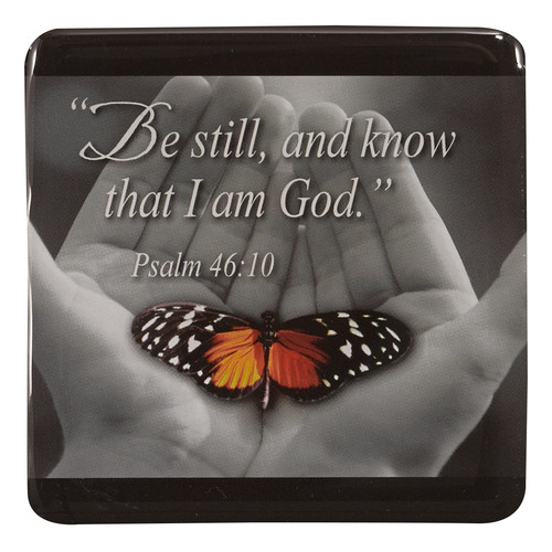 Be Still with Butterfly Magnetic Picture Frame - Psalm 46:10