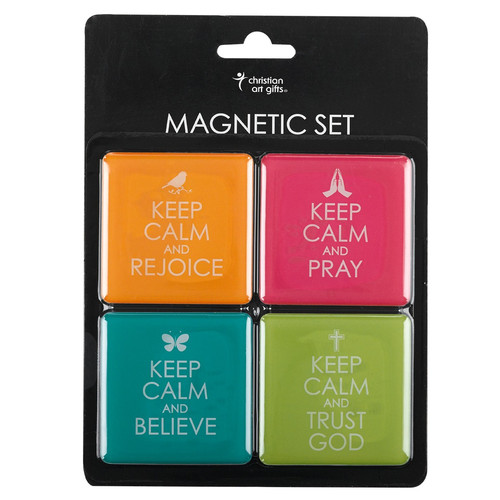 Keep Calm Inspirational Fridge Magnet Set