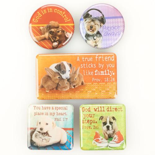 True Friend Pets Small Magnet Set - Proverbs 18:24