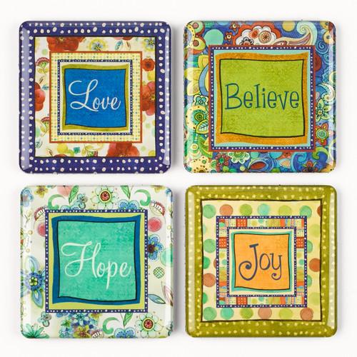 Joyful Garden Inspirational Fridge Magnet Set (4)