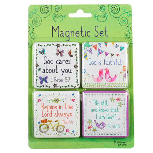Everyday Blessings Inspirational Fridge Magnet Set (4)