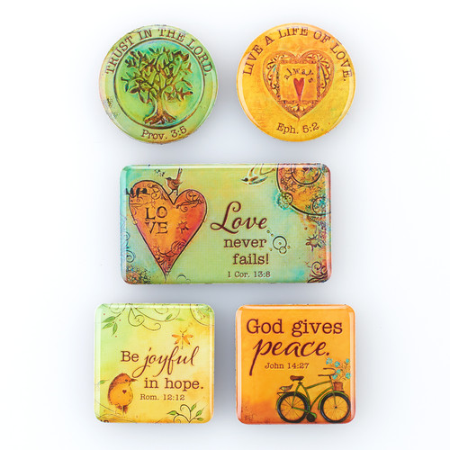 Magnet Set of 5 Peaceful Thoughts