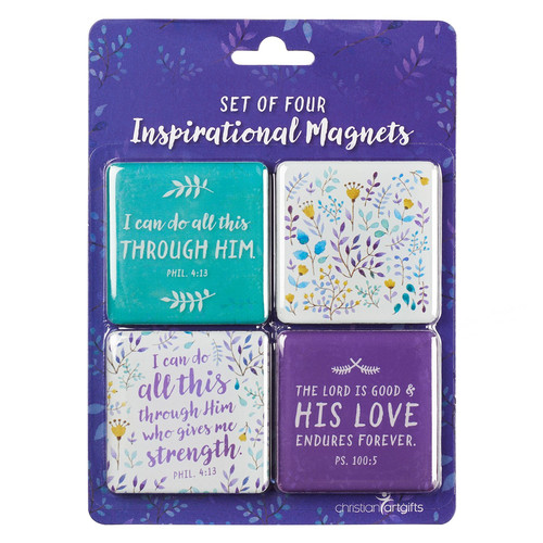 Positively Purple - I Can Do All This - Phil 4:13 Magnet Set
