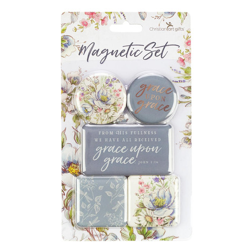 Set: Grace Upon Grace - John 1:16 Magnet