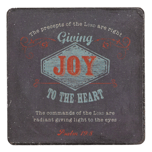 Retro Collection Joy Magnet in Navy - Psalm 19:8