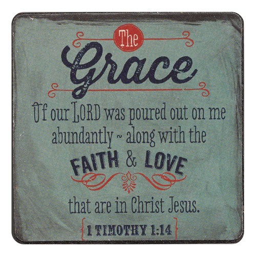 Retro Collection Grace Magnet - 1 Timothy 1:14