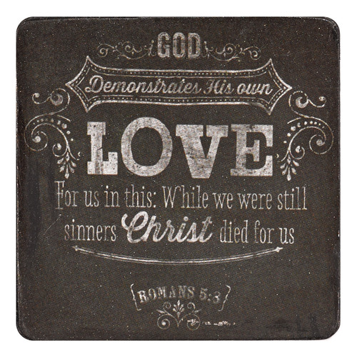 Chalkboard Collection Love Magnet - Romans 5:8