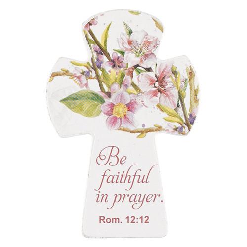 Cross Mag Sm Wd Faithful Rom 12:12