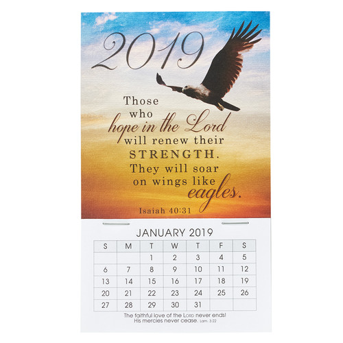 Hope in the Lord - Isaiah 40:31 - 2019 Mini Magnetic Calendar