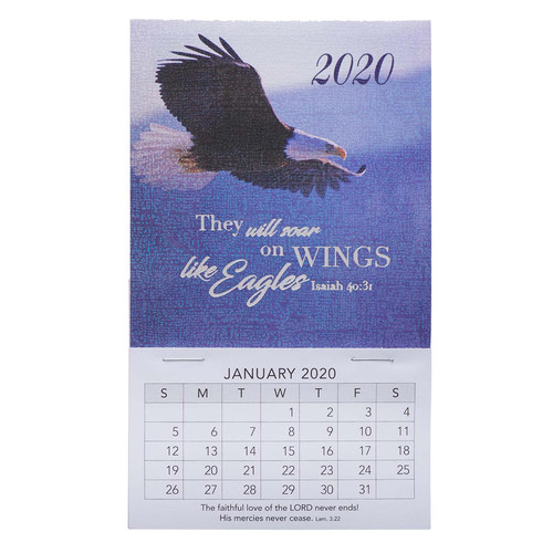 Wings Like Eagles Mini Magnetic Calendar 2020