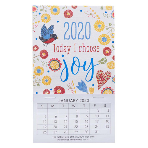 Today I Choose Joy Mini Magnetic Calendar 2020