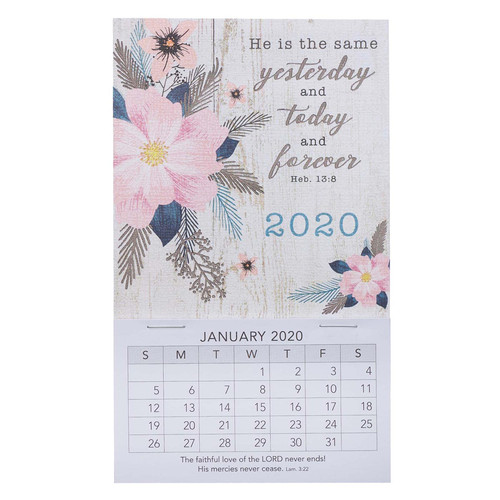 He Is The Same Mini Magnetic Calendar 2020