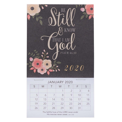 Be Still Mini Magnetic Calendar 2020