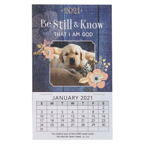 Be Still and Know 2021 Mini Magnetic Calendar - Psalm 46:10