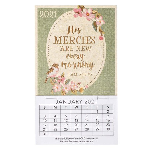 His Mercies Are New 2021 Mini Magnetic Calendar - Lamentations 3:22-23
