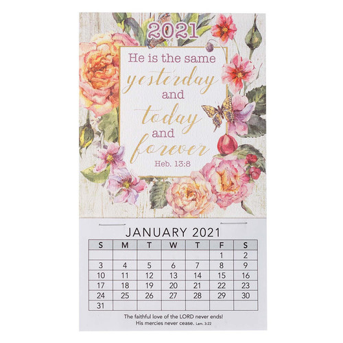He Is The Same 2021 Mini Magnetic Calendar - Hebrews 13:18