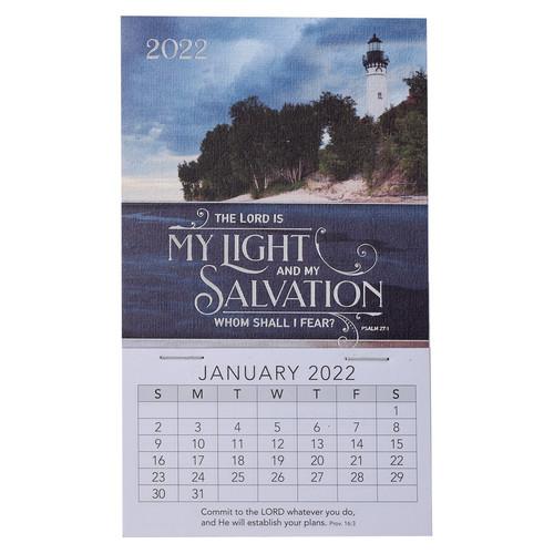 2022 Light & Salvation Mini Magnetic Calendar - Psalm 27:1