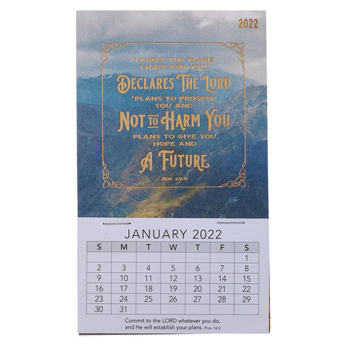 2022 I Know The Plans Mini Magnetic Calendar - Jeremiah 29:11