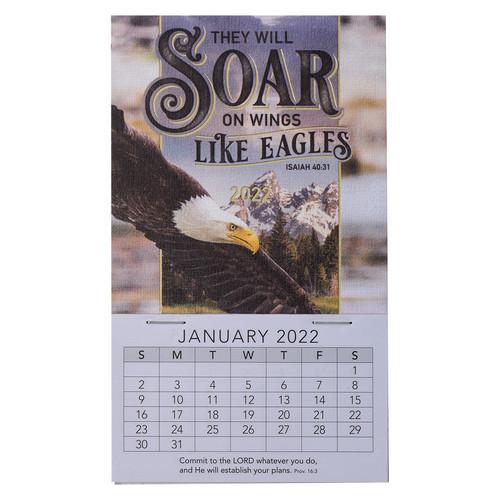 2022 Soar Mini Magnetic Calendar - Isaiah 40:31