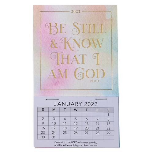 2022 Be Still Mini Magnetic Calendar - Psalm 46:10